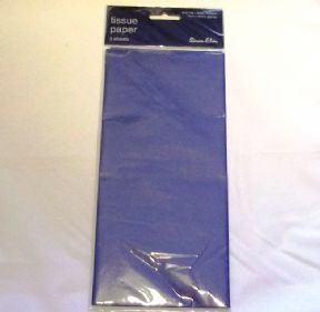 5 x Navy / Dark Blue Tissue Paper, Large Sheets - 750mm X 500mm - SC61